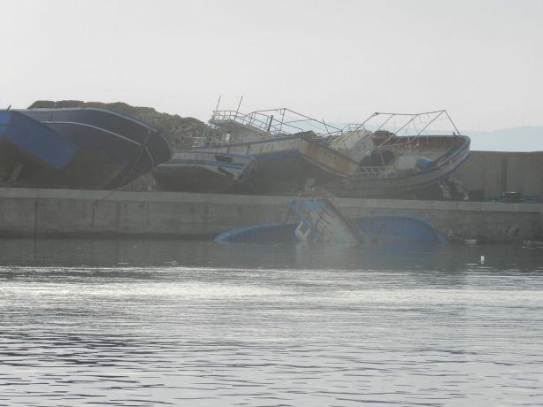 Porto Empedocle kalapaattien säilyttämistä