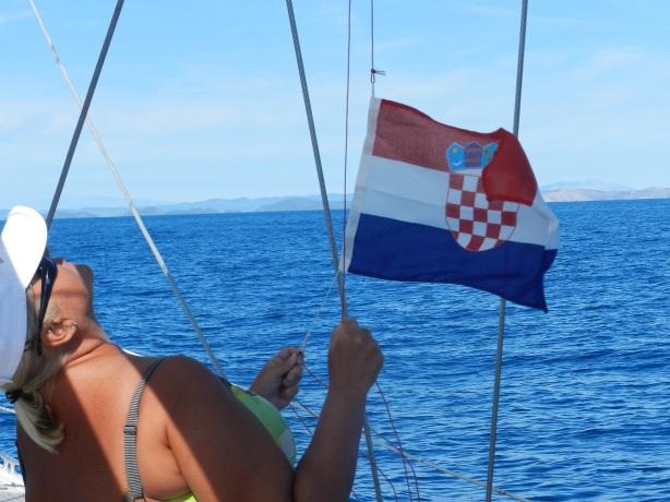 Kroatian lipun nosto