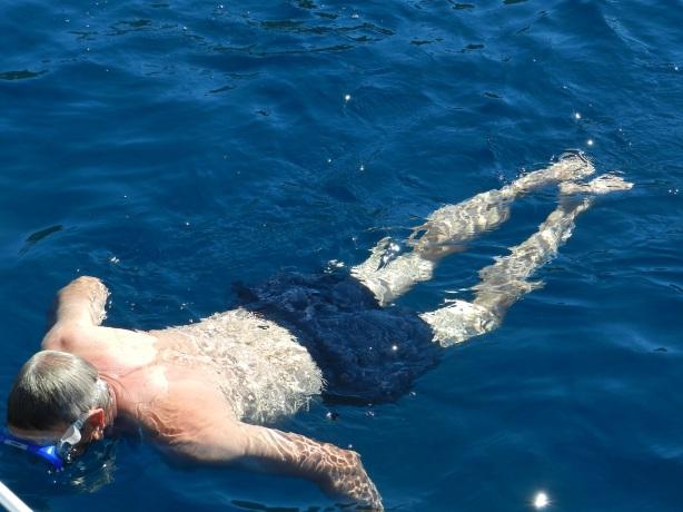 Olska snorklaamassa